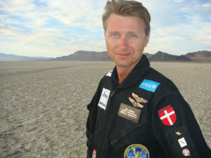 Per at Black Rock Desert for land speed record