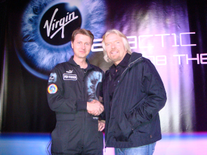 Virgin Galactic founding astronaut with Richard Branson