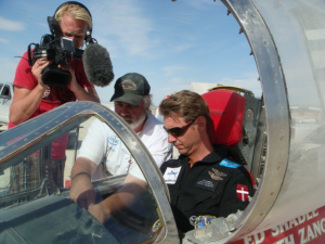 Land speed record. Per jumps in the Eagle cockpit for the first time, Black Rock Desert, 2009.